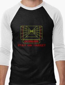 Stay on Target- Version 2 Men's Baseball ¾ T-Shirt