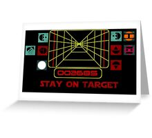 Stay on Target Greeting Card