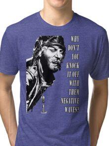 Oddball Says - black & white Tri-blend T-Shirt