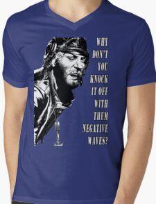 Oddball Says - black & white Mens V-Neck T-Shirt