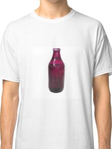 Isolated Mauve Beer Bottle Classic T-Shirt