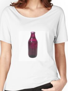 Isolated Mauve Beer Bottle Women's Relaxed Fit T-Shirt