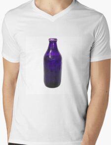Isolated Indigo Beer Bottle Mens V-Neck T-Shirt