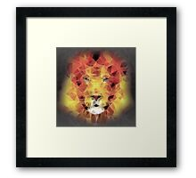 abstract lion 2 Framed Print
