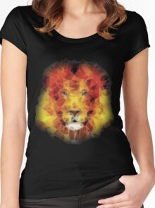 abstract lion 2 Women's Fitted Scoop T-Shirt