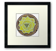 Manipura - the third chakra Framed Print