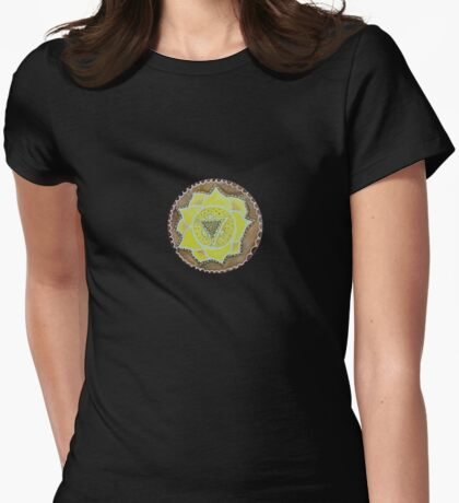 Manipura - the third chakra Womens Fitted T-Shirt