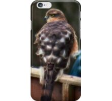Hawk with a touch of fractalius iPhone Case/Skin