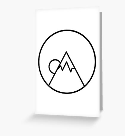 Simplistic Mountain Greeting Card
