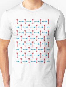 Thousand Arrows (Red & Blue) Unisex T-Shirt