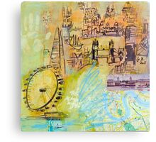 London: Thames Canvas Print