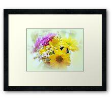 Daisy Floral Table Bouquet Framed Print