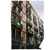 Typical Building In Barcelona Poster