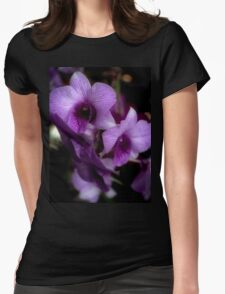 Haunted Halo Glow Orchids Womens Fitted T-Shirt