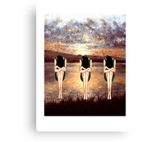 CONTEMPLATING THE SUNSET Canvas Print