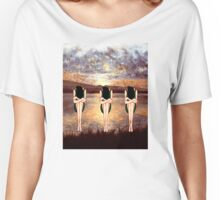 CONTEMPLATING THE SUNSET Women's Relaxed Fit T-Shirt