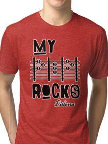 My -D-A-D- Rocks! By lilterra.com Tri-blend T-Shirt