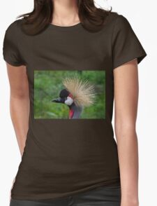 African crowned crane Womens Fitted T-Shirt