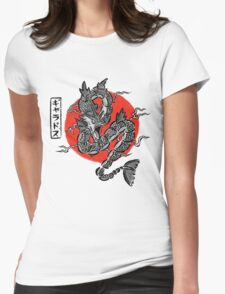 Gyarados Japan Brush Stroke Womens Fitted T-Shirt
