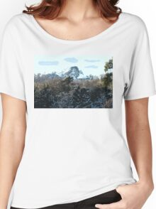 SNOWY MOUNTAIN Women's Relaxed Fit T-Shirt