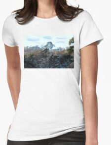 SNOWY MOUNTAIN Womens Fitted T-Shirt