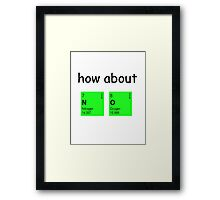How about  N O Framed Print