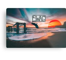 Swag Whale Metal Print