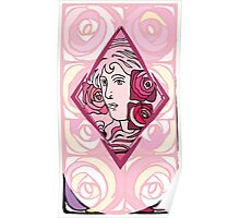 Art nouveau Rose Woman Poster