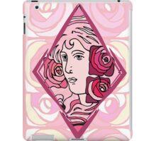 Art nouveau Rose Woman iPad Case/Skin