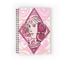 Art nouveau Rose Woman Spiral Notebook
