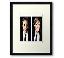 Benedict Cumberbatch and Tom Hiddleston Framed Print