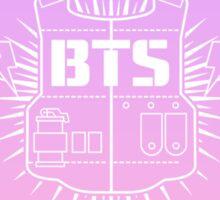 BTS lilacxpink heart logo Sticker