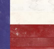 Distressed Texas Flag Sticker