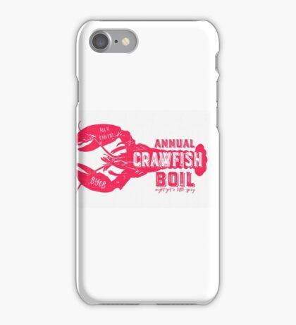 Annual Crawfish Boil Poster iPhone Case/Skin