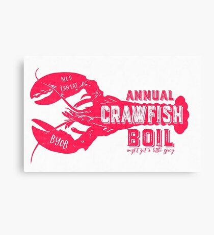 Annual Crawfish Boil Poster Canvas Print