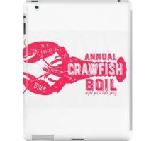 Annual Crawfish Boil Poster iPad Case/Skin