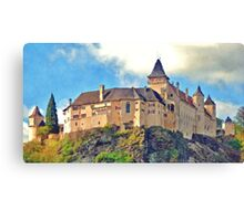 Austria - Rose castle Canvas Print