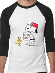 Pokemon 20th featuring Snoopy and Woodstock Men's Baseball ¾ T-Shirt