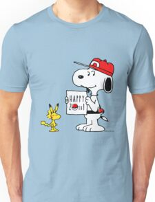 Pokemon 20th featuring Snoopy and Woodstock Unisex T-Shirt