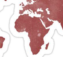 Burgundy World Map Sticker