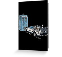 Car Crash to The Future Greeting Card