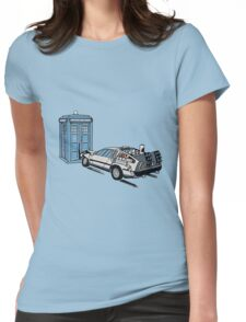 Car Crash to The Future Womens Fitted T-Shirt
