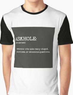 ASKHOLE _ Urbandictionary B/N Graphic T-Shirt