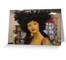 hair woman Greeting Card