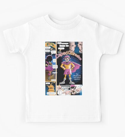 The Caped Counsellor - comic strip Kids Tee