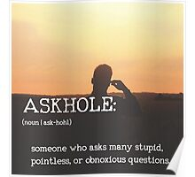 ASKHOLE_Urbandictionary  Poster