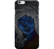 blue woman iPhone Case/Skin