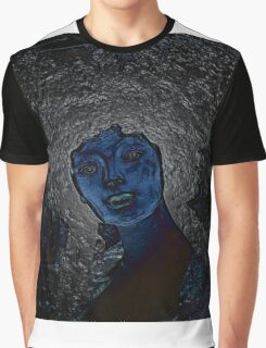 blue woman Graphic T-Shirt