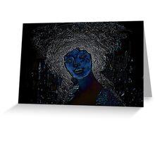 blue woman Greeting Card