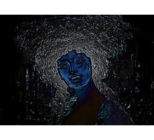 blue woman Photographic Print